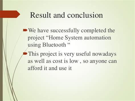 home system automation using android application