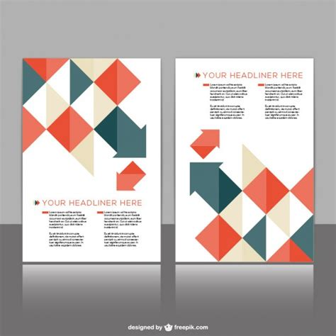 leaflet design template free polygonal brochure template vector free
