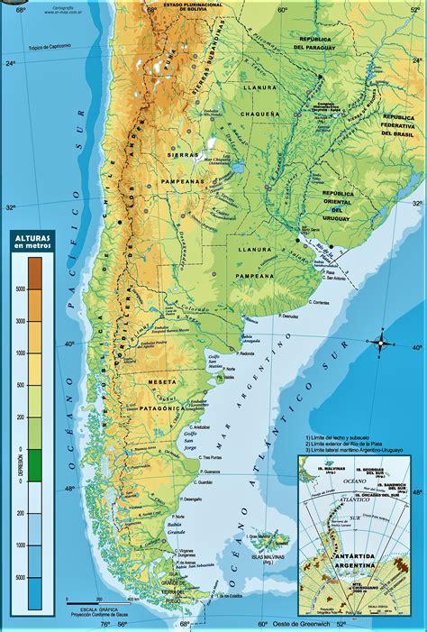 mapa de argentina politico fisico  nombres