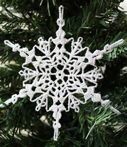 Free easy crochet snowflake patterns