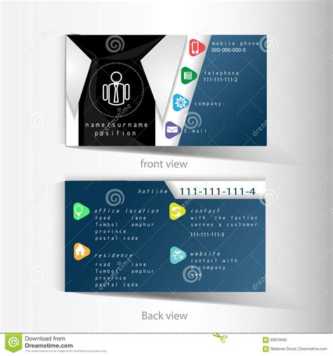 template for business name card vector business name card template with abstract shirt