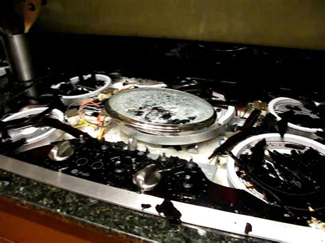 induction cooker glass broken ge glass cooktop exploded