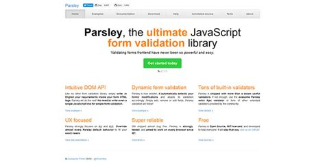 parsley pattern js web design resources jquery plugins css grids frameworks
