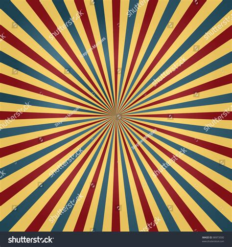 circus colors colorful circus colors sunburst background stock vector