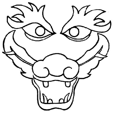 Chinese Dragon Head Clipart Black And White  ClipartFest sketch template