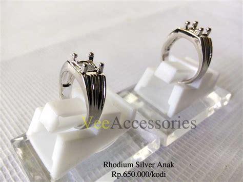 Cincin Emban Ikatan Rodium Murah T2709 ring cincin rhodium silver anak habis grosir cincin murah