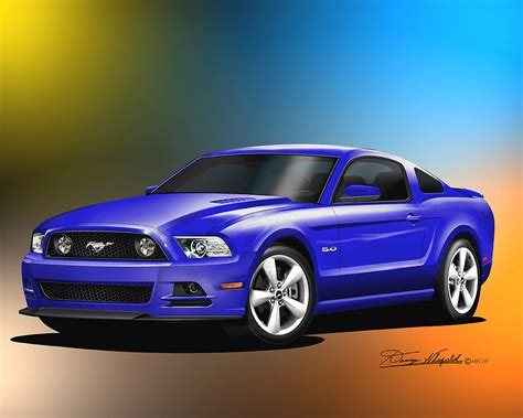gallery for gt december 2013 and january 2014 calendar 2013 2014 ford mustang fine art prints posters by danny