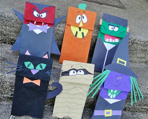 paper bag arts and crafts for craft paper bag puppets crafts by amanda