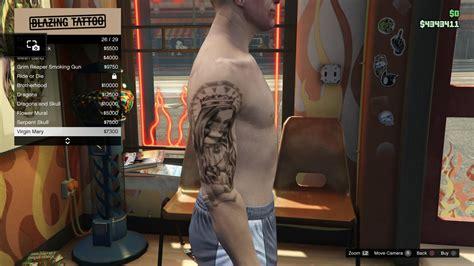 tattoo gta v online image tattoo gtav online male right arrm virgin mary jpg