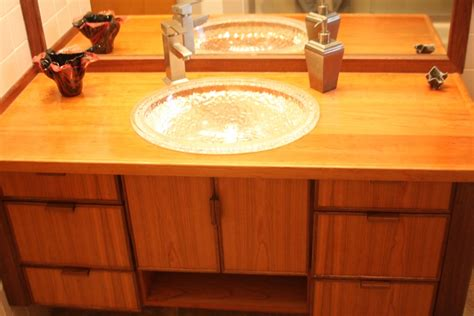 Asian Style Bathroom Vanities Custom Bathroom Vanity Cabinets Asian Style With An Underlit Glass Sink Builtbyrick Home