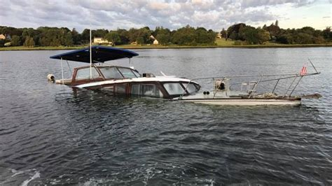 boat on fire driving down road boat sinks in tiverton pond wjar