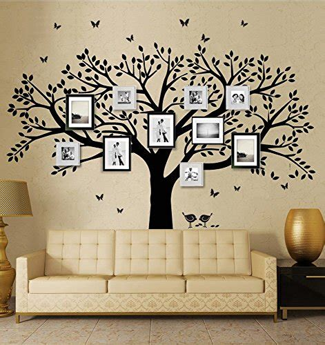 timber artbox large family tree photo frames wall decal family tree wall decals display the entire family on the