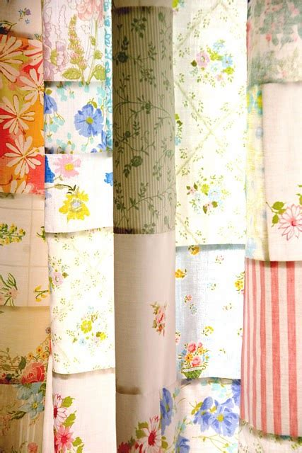 Vintage Patchwork Curtains - few ways to create melted crayon we how to do it