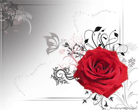 wallpaper cartoon red 3d red roses wallpaper wallpapersafari