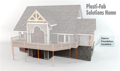 exterior insulation for foundation walls plasti fab