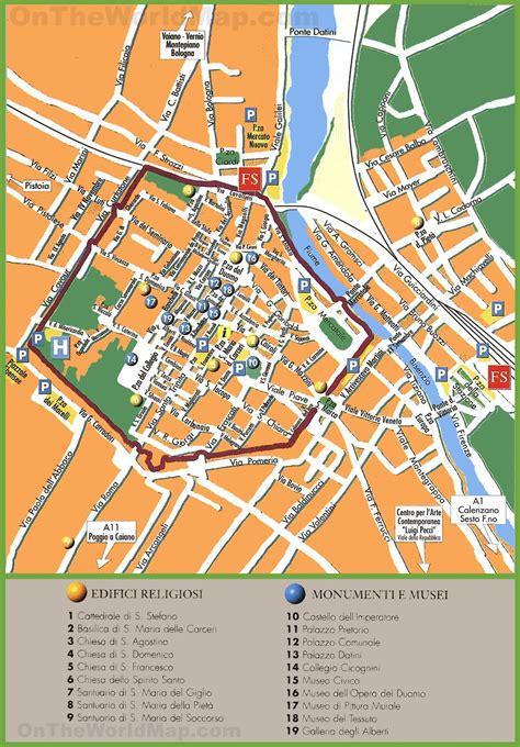 a prato prato tourist map
