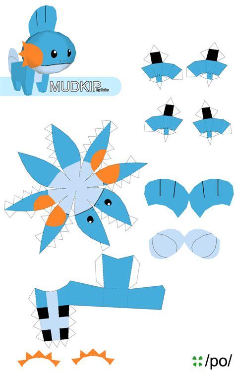 Papercraft Pattern - mudkip po archives