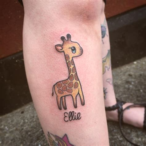 giraffe tattoo 120 best giraffe designs meanings on
