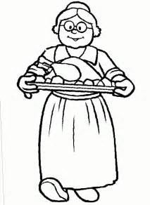 grandma thanksgiving coloring pages free amp printable coloring cliparts