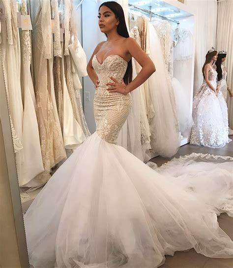 mermaid wedding dresses wedding dress mermaid bridalblissonline