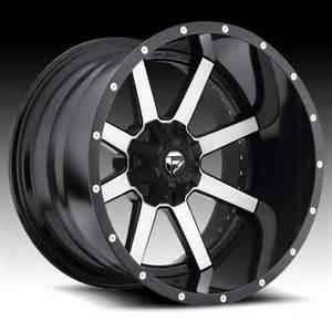 Black Machined Truck Wheels Fuel D261 Maverick 2 Pc Matte Black Machined Truck Wheels