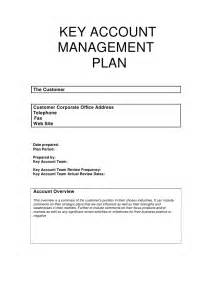 key account template key account plan template free key account plan
