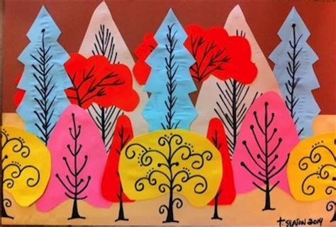 Things To Make With Construction Paper - construction paper tree things to make and do