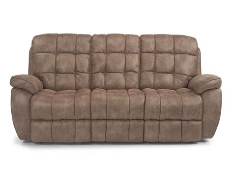 flexsteel reclining sofa flexsteel living room nuvoleather power reclining sofa