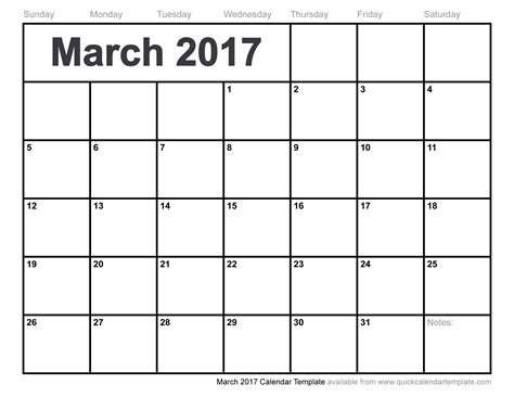 march 2017 calendars for word excel pdf