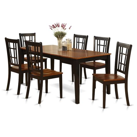 7 pc dining room set 7 pc formal dining room set dining table and 6 chairs for