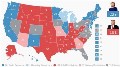 swing vote states 100 2016 presidential map 2016 presidential race