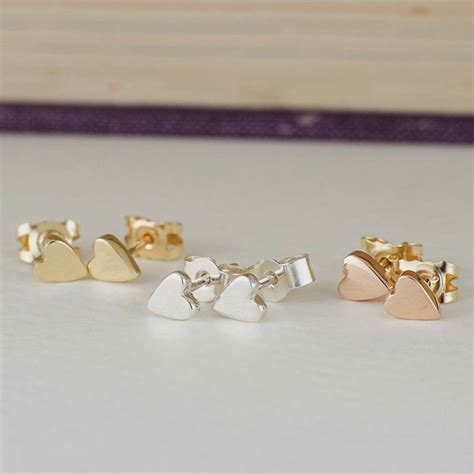 Handmade Studs - tiny handmade solid gold studs by alison