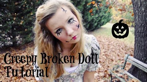 Creepy Broken Doll Hair Makeup And Costume Tutorial | creepy broken doll hair makeup and costume tutorial