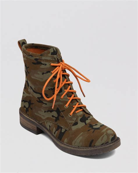 Boots Camo lucky brand lace up combat boots novembere camo lyst