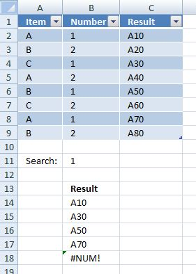vlookup tutorial multiple values vlookup visible data in a table and return multiple values
