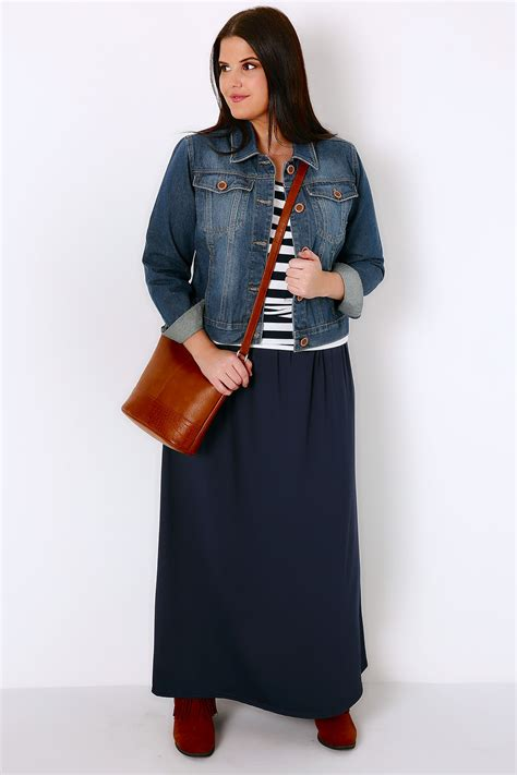 pattern for jersey maxi skirt navy jersey maxi skirt plus size 16 to 36