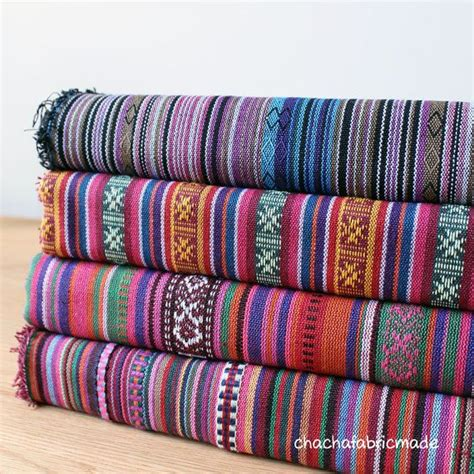 Rnb Etnic F 04 colorful stripe fabric aztec fabric tribal fabric ethnic fabric fabric boho bohemian
