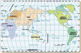 World Map Latitude And Longitude by World Map With Longitude And Latitude Degrees