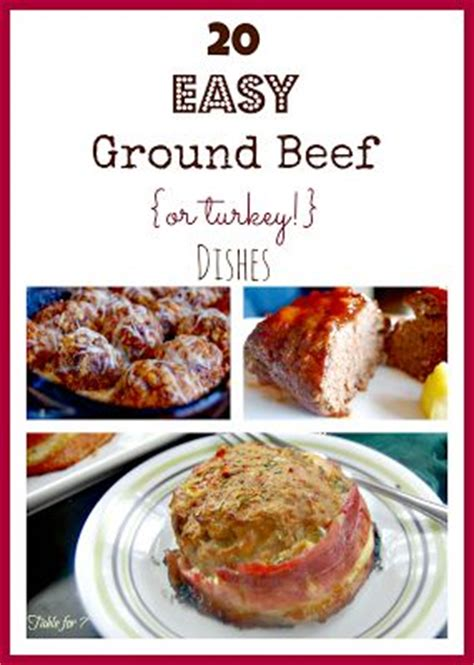 20 easy ground beef or turkey dishes things to make recipies and gossip news