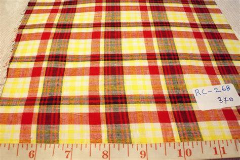 Plaid Patchwork Fabric - madras plaid madras fabric preppy plaid or madras
