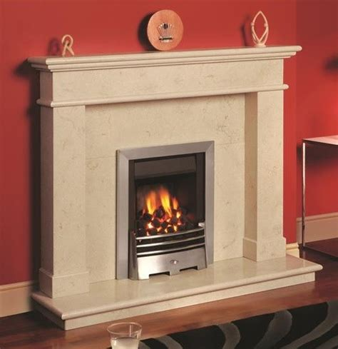 balmoral fireplace in creme marble traditional