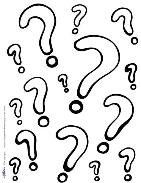 free printable question mark printable question marks coloring page coolest free