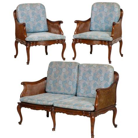 salotto sofa salotto divano 2 poltrone luigi xv barocco in noce e
