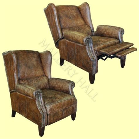 Reclining Wingback Chair Design Ideas Wingback Leather Recliner Wing Back Leather Recliner 1970 Marsala Sc 1 St Foter