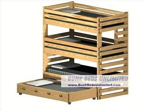 Bunk Bed With Trundle Plans by Bunk Bed Plans Trundle Pdf Plans Building A Wood Walkway