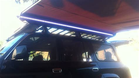 led lights for cer awning l e d light strip on arb awning on 80 series landcruiser