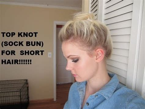 top knots hair length for top knot for short hair youtube