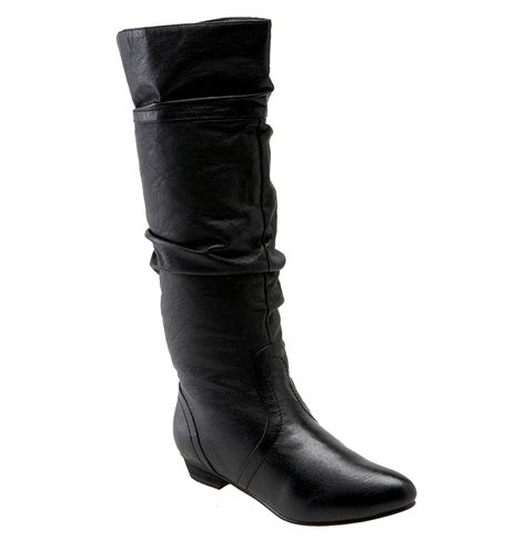 steve madden candence boot in black black leather lyst