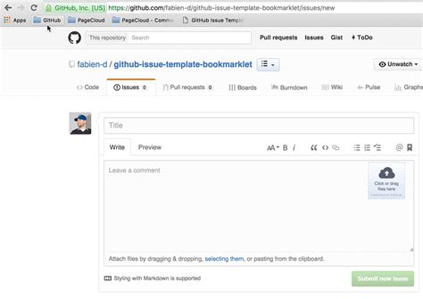 github issue template image collections templates design