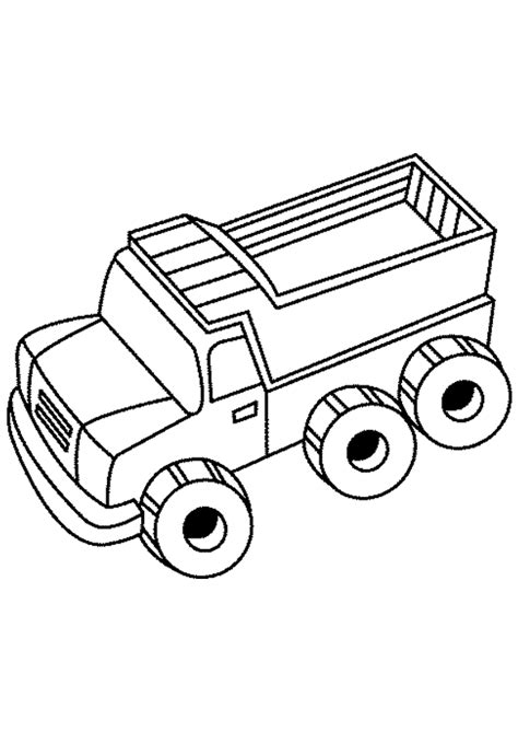 Coloriage d'un Camion benne